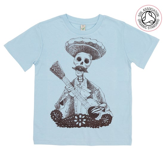 Image of Day of the Dead Light Blue Kids-T (Organic)