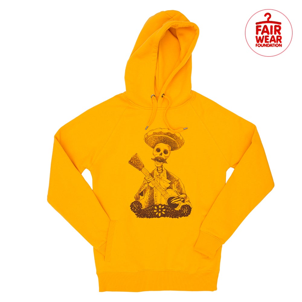 Day of the Dead Unisex Gold Hood