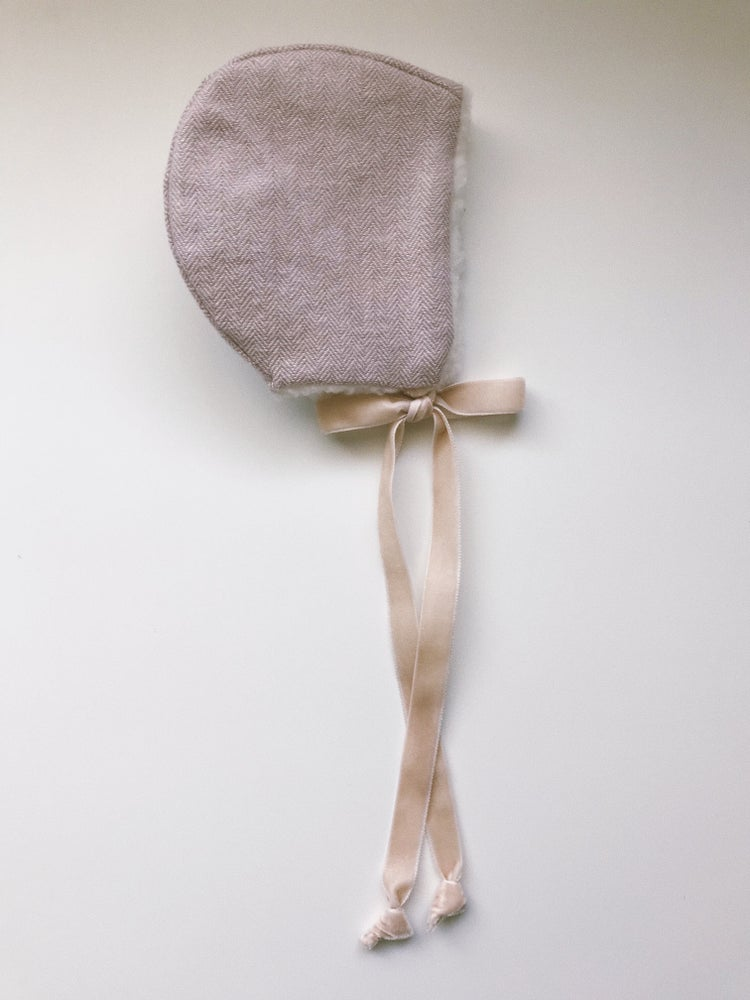 Image of Lilac Herringbone Bonnet
