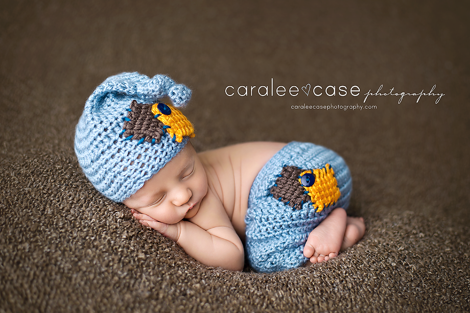 Image of Light Country Blue, Pumpkin and Taupe Knot Top Hat and Pants Set