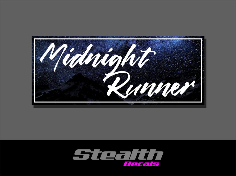 Image of Midnight Runner Drift Slap sticker