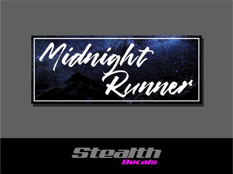 Image of Midnight Runner Drift Slap sticker