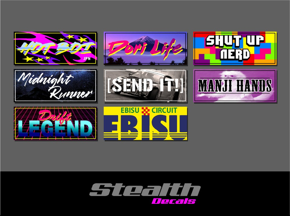 Image of 8x Drift Slap sticker set v2
