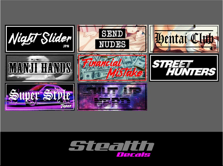 Image of 8x Drift Slap sticker set v1