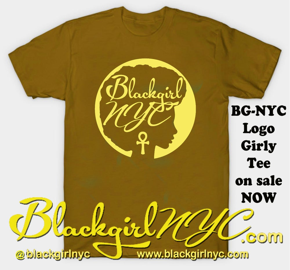 Image of BROWN Logo Tee Black Girl NYC