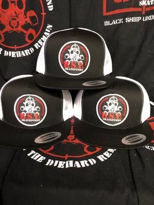 Image of BSU Recon Skatepunks Patch Hat BK/Wt
