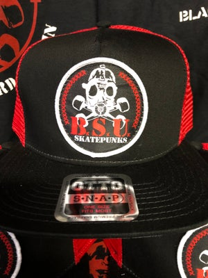 Image of BSU Recon Skatepunks Patch Hat Red/BK