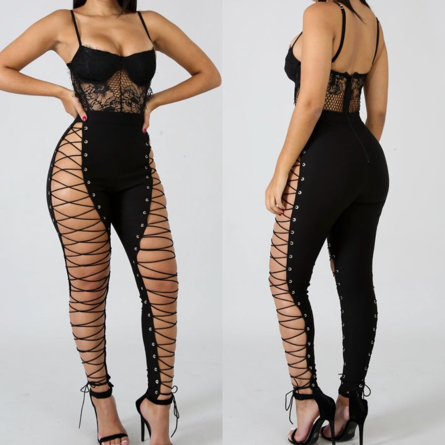 Image of Lace up body suit