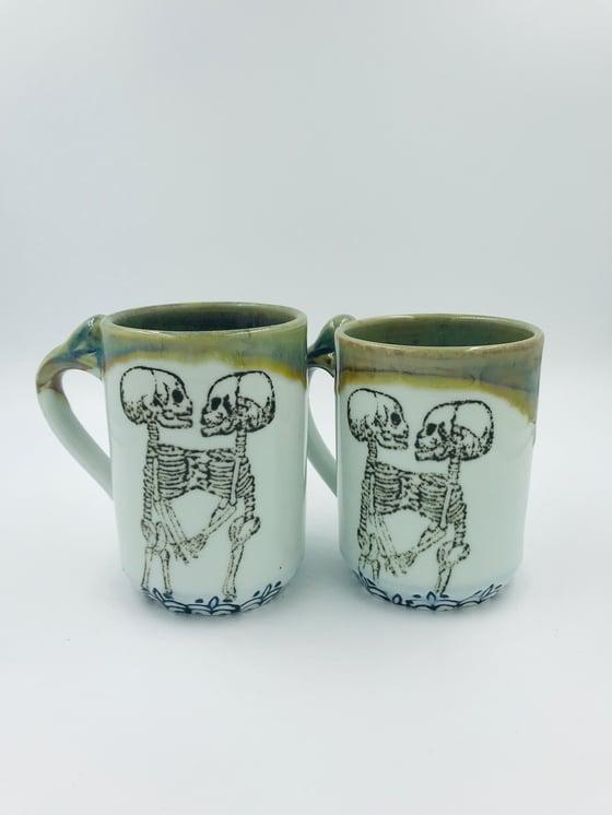 Image of Multi Colored Double Skeleton Mug