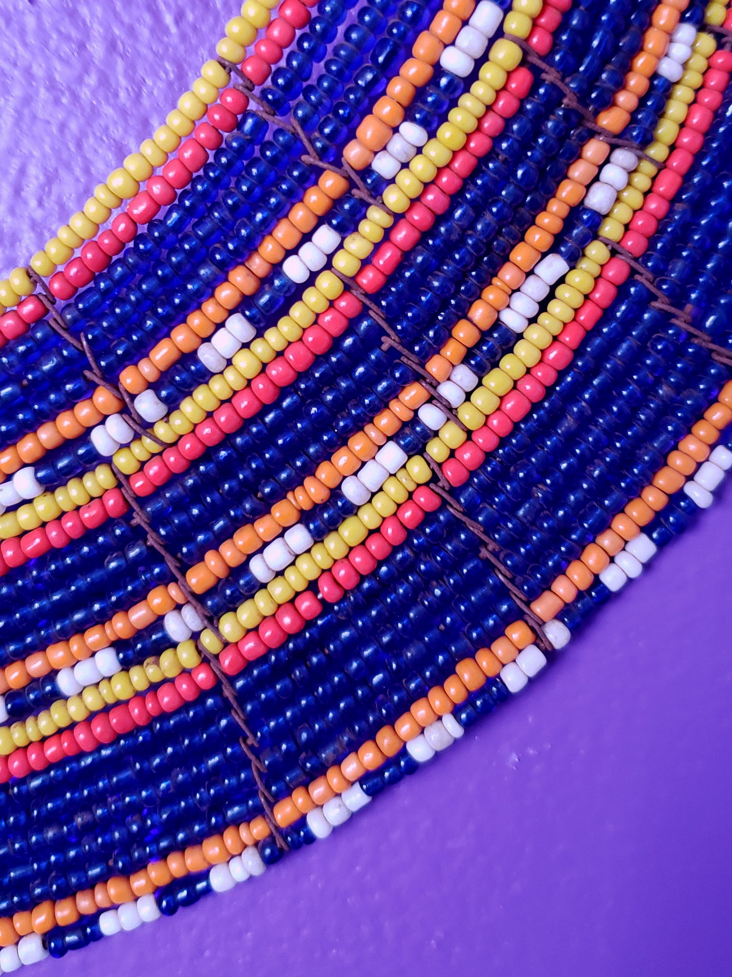 Image of Baraka 3-Row Beaded Collar Necklace