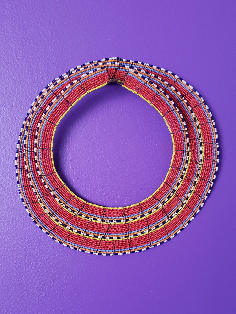 Image of Afaafa 3-Row Beaded Collar Necklace