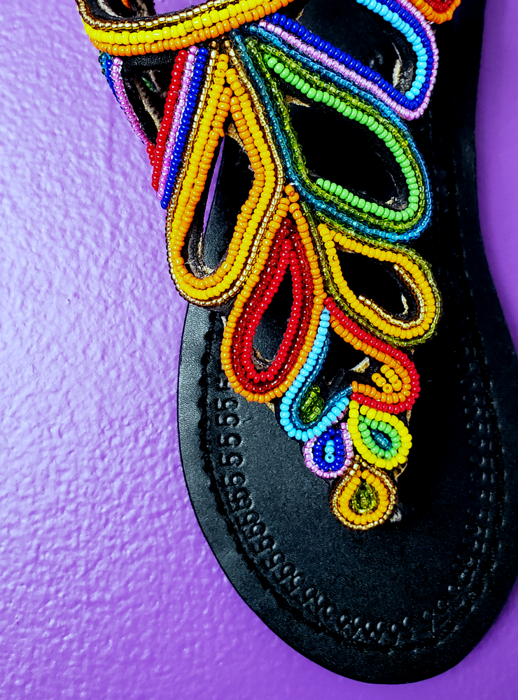 Image of Wokabi Hand Beaded Sandal