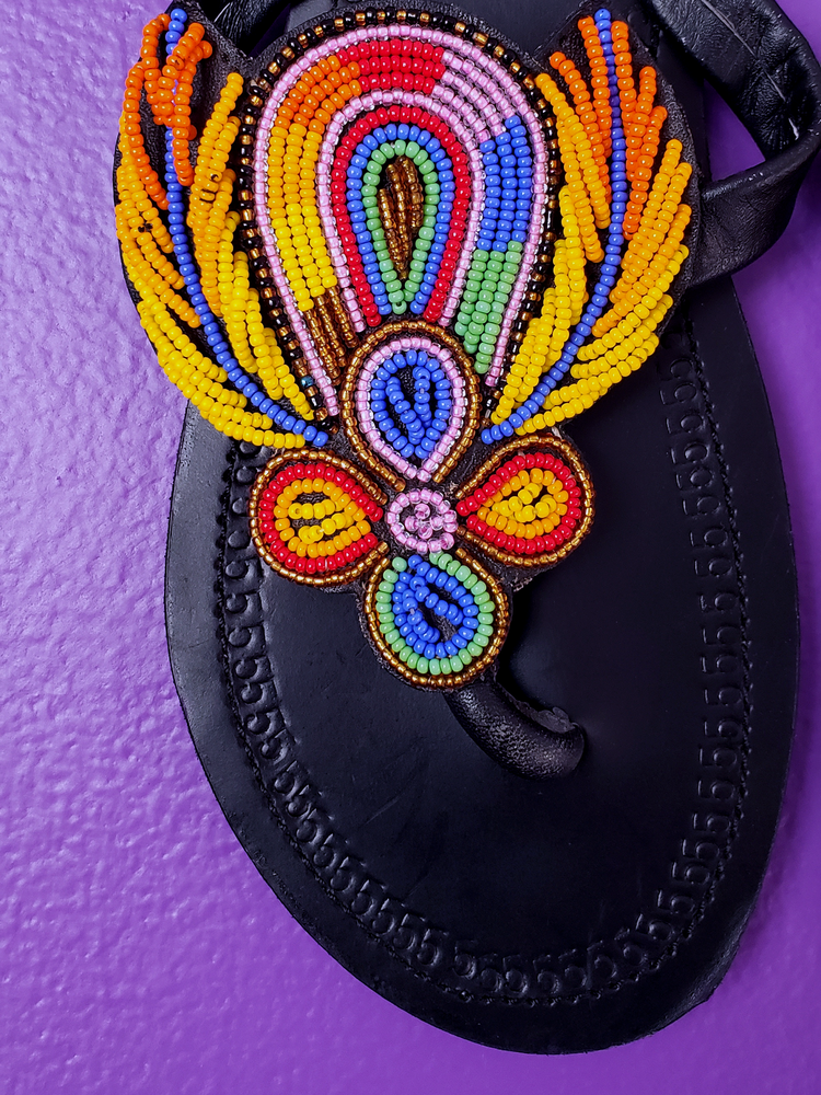Image of Waceera Hand Beaded Sandal