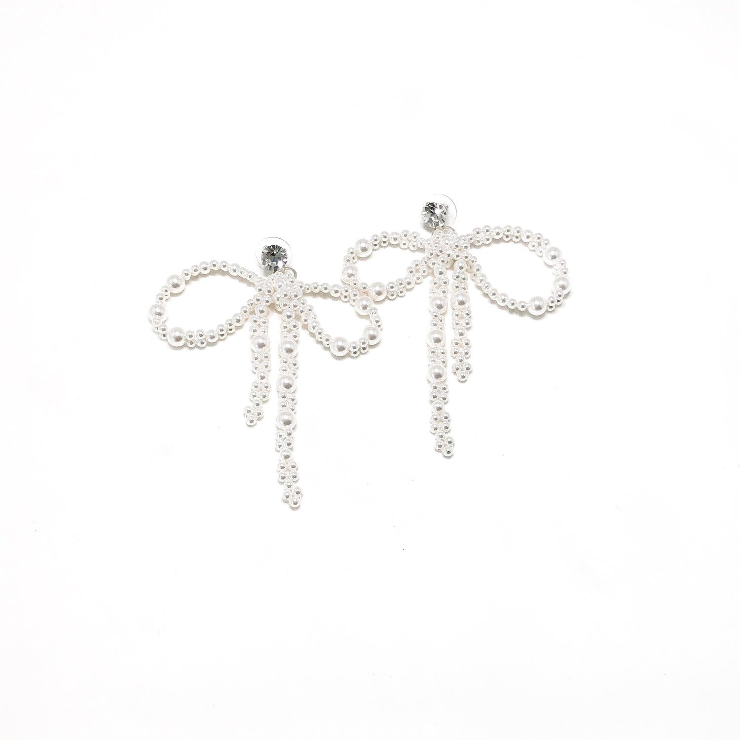 Image of Pearl Bow Earrings