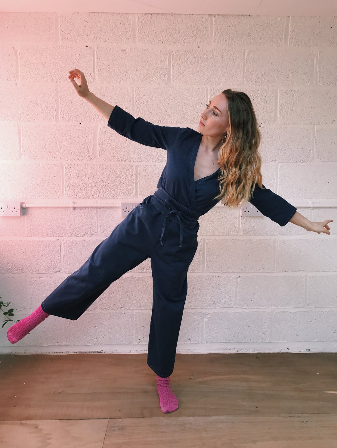 Image of Organic Cotton Denim Jumpsuit