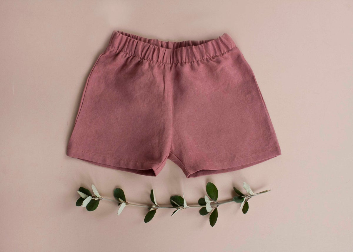 Image of Linen pants charcoal, ocean, rose clay, milk