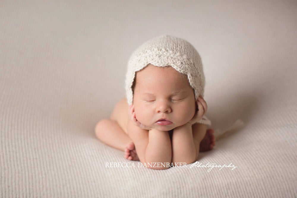 Image of RTS - Angelina NB Bonnet in CREAM