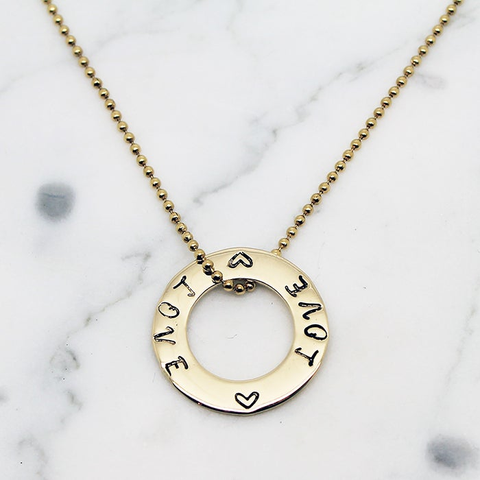 Image of Small Circle Of Love 9ct Gold Necklace
