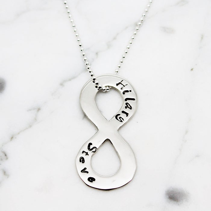 Personalised Infinity Symbol Necklace Hj
