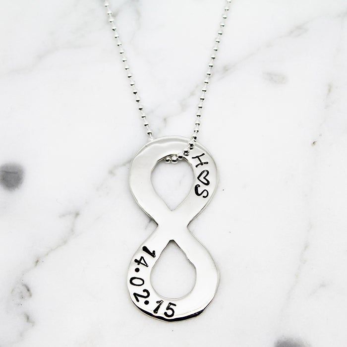 Image of Personalised Infinity Symbol Necklace