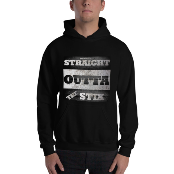 Image of STRAIGHT OUT THE STIX HOODED SWEATSHIRT