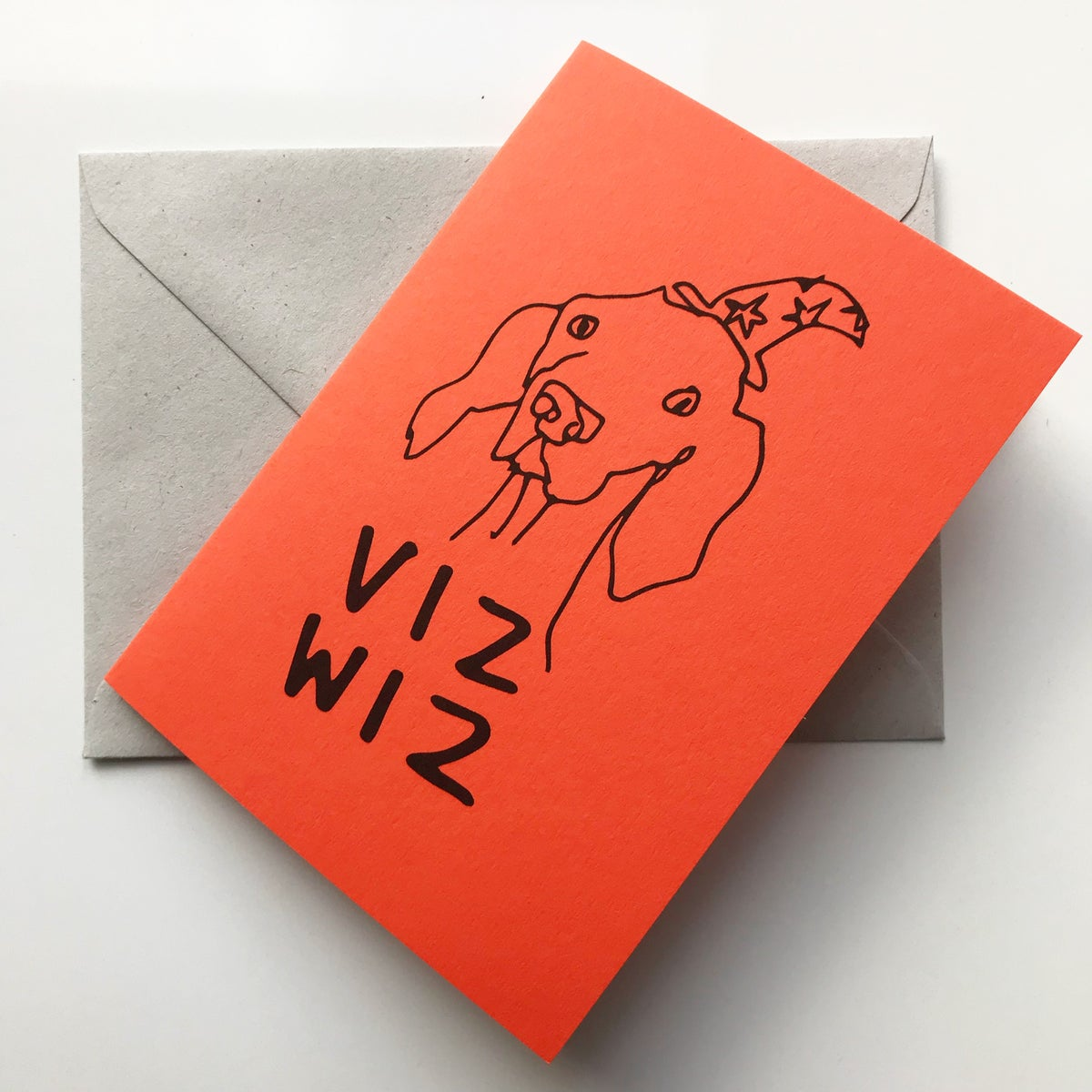 Image of Viz Wiz Vizsla Card in Orange