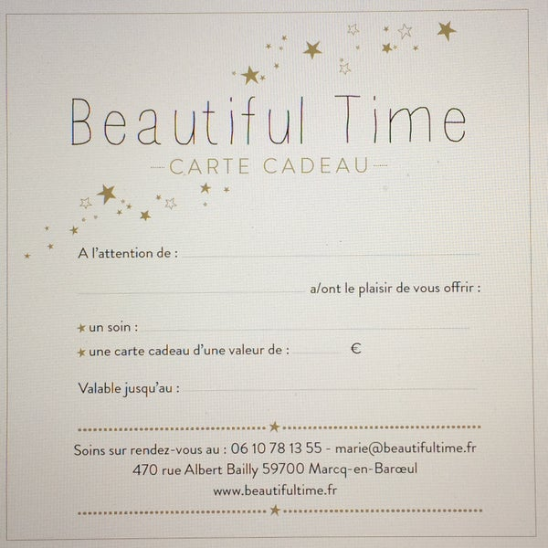 Image of Carte Cadeau Beautiful Time