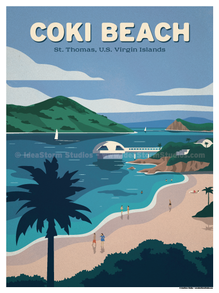 Image of Coki Beach Poster