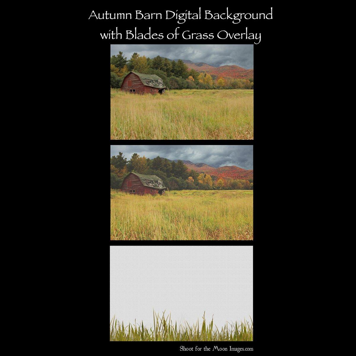Image of Autumn Barn Digital Backgrounds