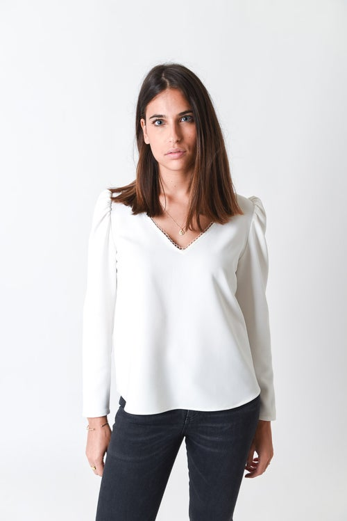 Image of BLOUSE OLIVIA - BLANC
