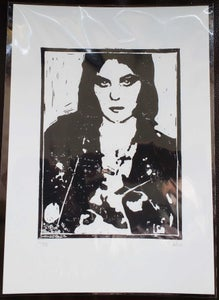 Image of EMMA HARVEY - Joan Jett hand-finished limited edition linoprint (25)