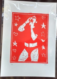 Image of EMMA HARVEY - Bikini Kill hand-finished limited edition linoprint (25)