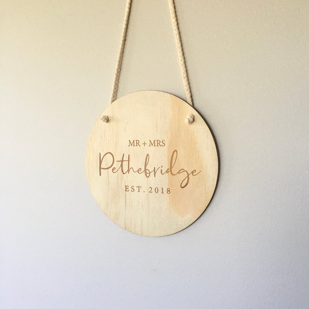 Image of Timber plaque | Our love