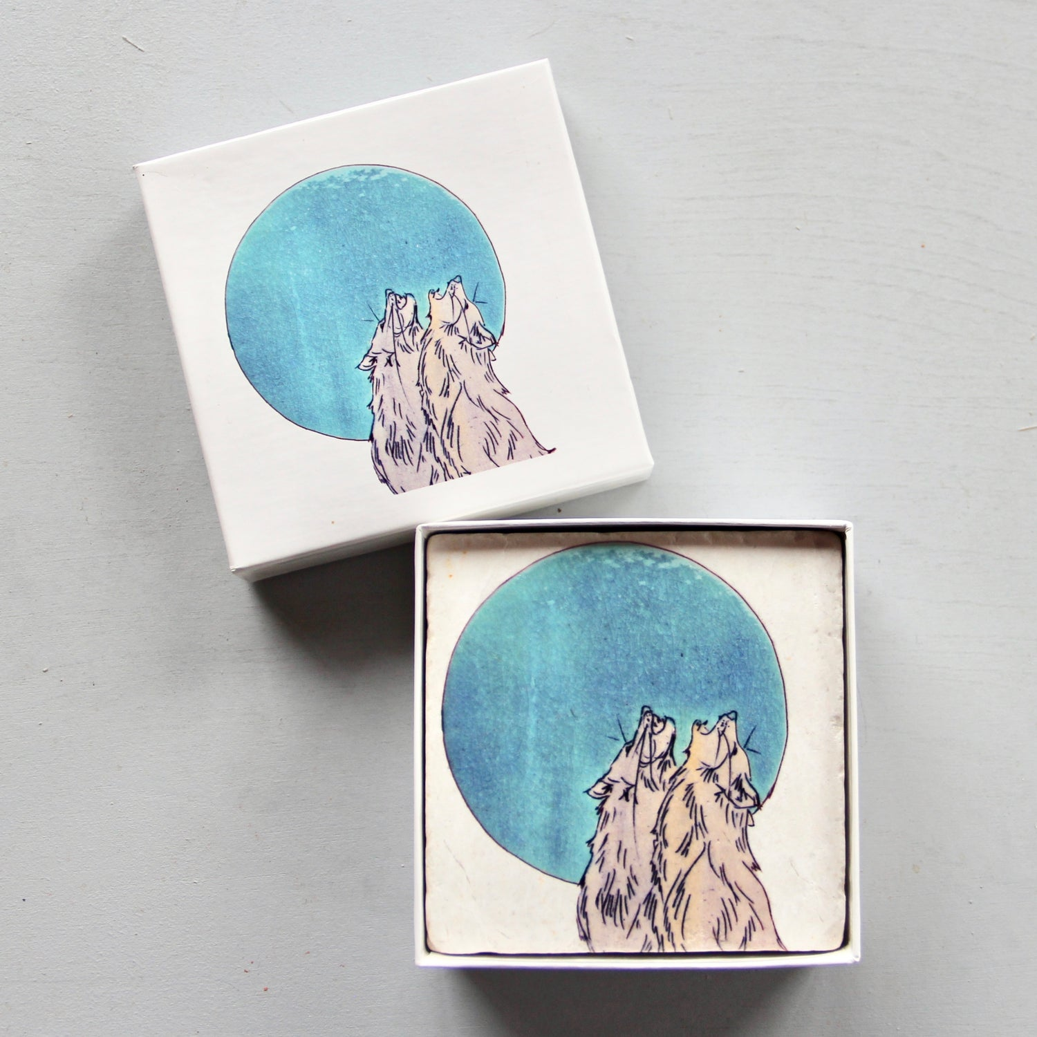 Image of Howling Wolves Coasters (set of 4)