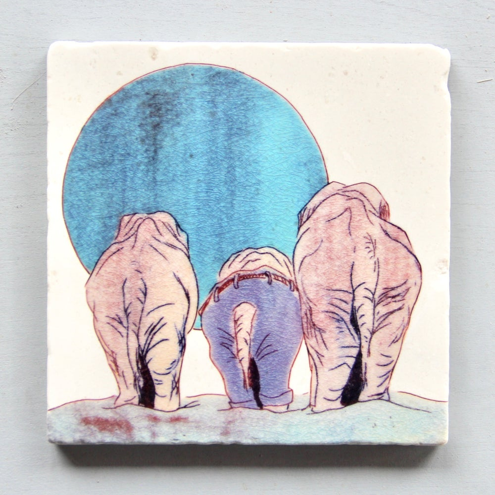 Image of Elephant Pants Trivet