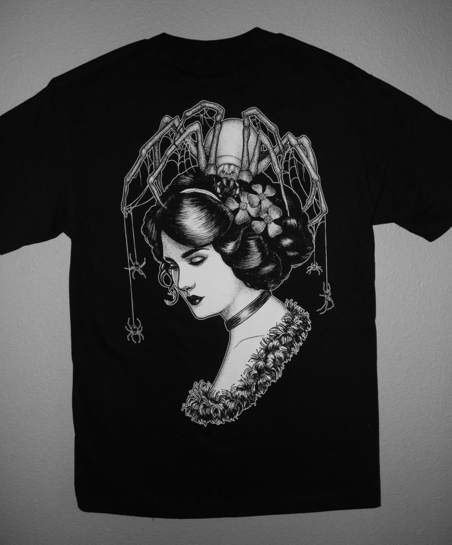 Image of Spiders in Her Hair Shirt