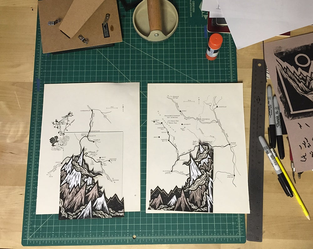 Image of Gateway to the Elks - Diptych (set of 2)