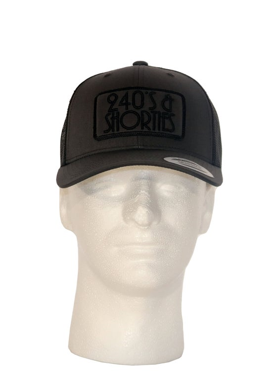 Image of Charcoal/Black Trucker Patch Hat