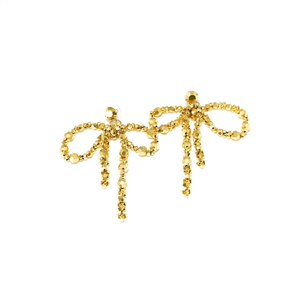 Image of Crystal Bow Earrings (2 colors)