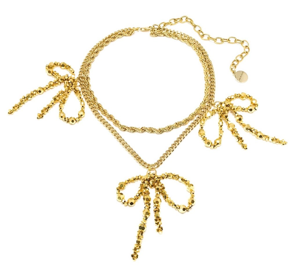 Image of Gold Bow Necklace