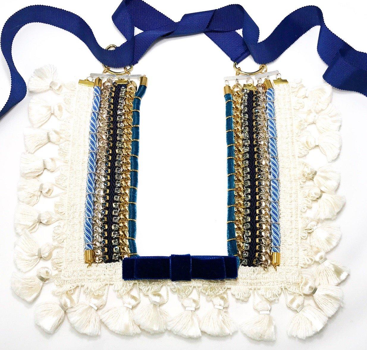 Image of Square tassel trim Necklace