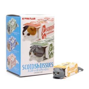 Image of Scottish Tissues Fold Box Kitan Club Cat Collectible Figure