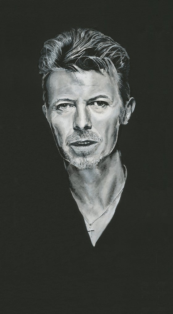 Image of David Bowie on Canvas