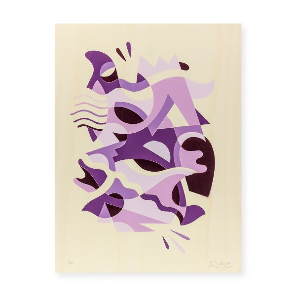 Image of Purple Horn stencil - 30 x 40 cm