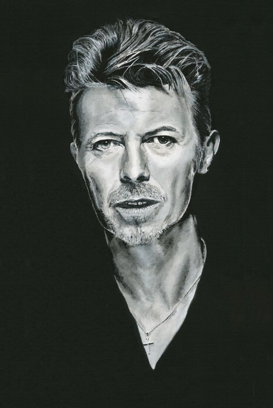 Image of David Bowie on fine art paper