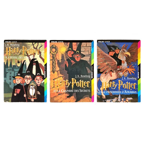 Image of Harry Potter French Translations books 1-3