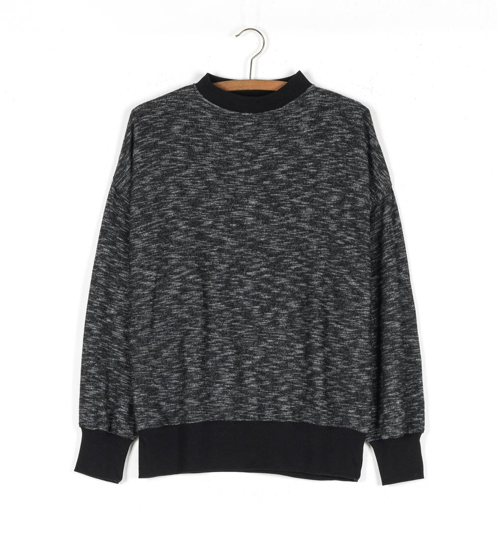Image of Sweat chiné col montant ARCHIBALD 85€ -60%