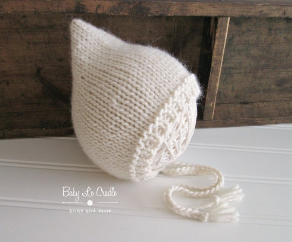 Image of RTS - Pixie Bonnet, NB, Eco Cream