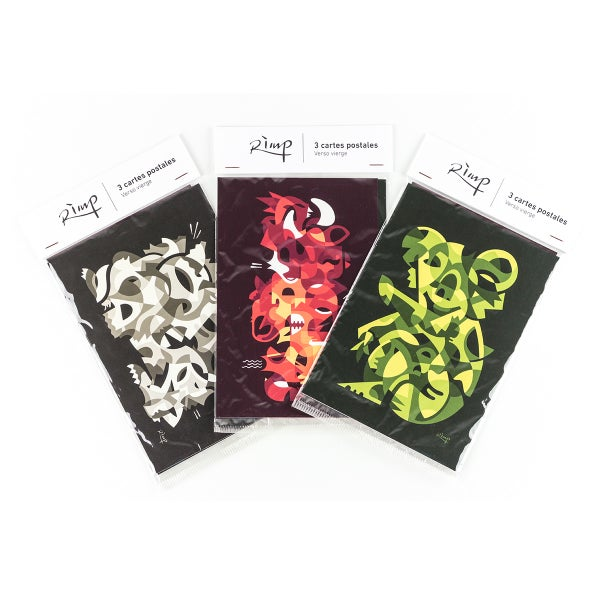 Image of Pack 3 postcards - 10 x 15 cm