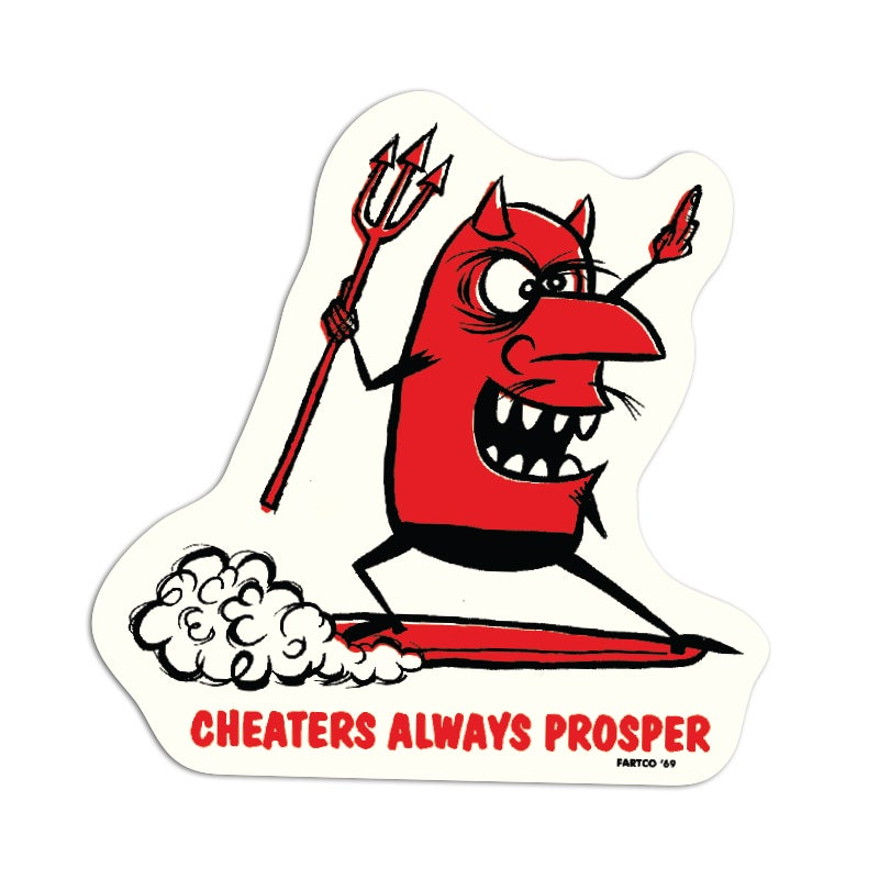 Image of Cheater Sticker